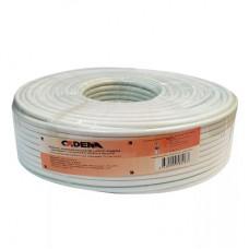 Кабель RG-6 SnCu / AL внутренний белый SAT-Optima premium CADENA