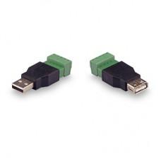 Комплект для передачи USB по витой паре USB (male) - USB (female) до 15м