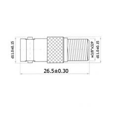 Переход F(female) - BNC(female) цинк H3138ZN
