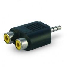 Переход 7-0174 шт.3.5мм стерео - 2х гн.RCA